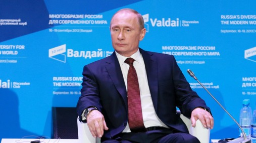 """В.Путин на заседании дискуссионного клуба """"Валдай"""""""