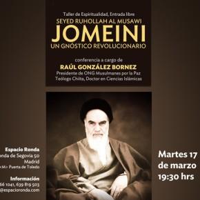 Espacio Ronda Madrid organiza un taller de espiritualidad dedicado a la figura de Seyed Ruhollah Al MusawiJomeini