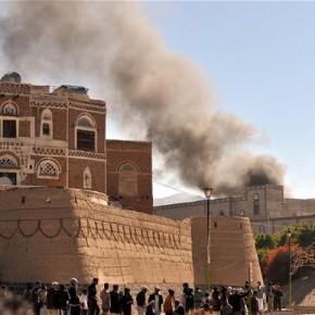 Las fuerzas contrarrevolucionarias bombardeanYemen