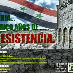 Siria, cinco años deresistencia.