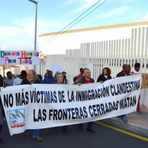 "III Marcha al Tarajal: ""la UE en guerra contra migrantes yrefugiados"""