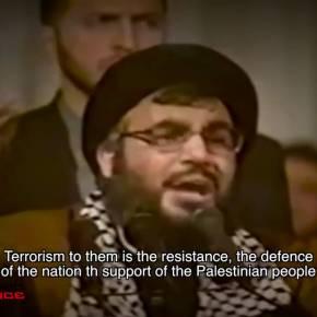 """Sayed Hasan Nasrallah. """"Nuestro compromiso es con Palestina"""" subeng/spa"""