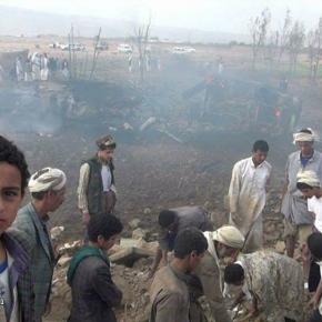 Aviones de guerra de la coalición invasora liderada por Arabia Saudi en su más reciente crímen contra la inocente población civil yemení la mañana de hoy lanzó brutales ataques aéreos contra zonas residenciales en el norte de Yemen causando varios muertos, entre ellos mujeres, ancianos yniños.