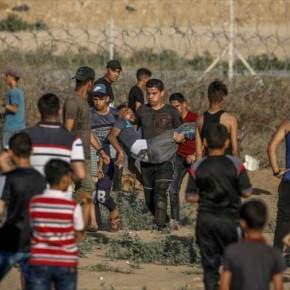 Represión israelí deja 49 palestinos heridos en la Franja deGaza