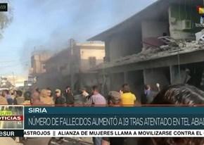 Siria: Casi una veintena de muertos por explosión de coche bomba en TelAbiad